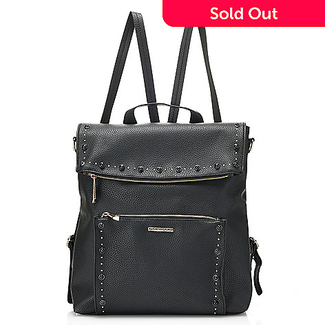 2b4c9063dbe 737-808- Rampage Studded Flap-over Convertible Backpack w  Removable Strap