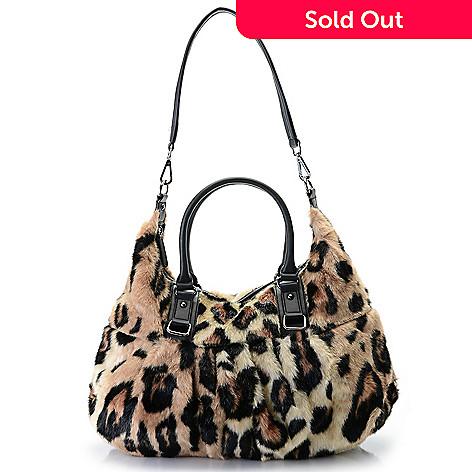 54d160f22eaa Donna Salyers  Fabulous-Furs Faux Fur Zip Top Satchel w  Removable ...
