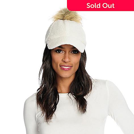 8127950bcd1b2 738-197- Donna Salyer's Fabulous-Furs Faux Fur Pom Pom Baseball Hat