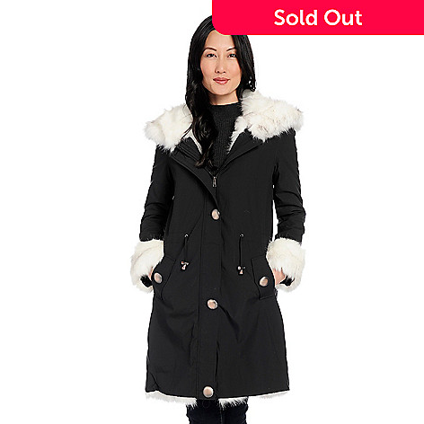c9d10dc1a 738-434- Donna Salyers' Fabulous-Furs Woven & Faux Fur Drawstring Waist