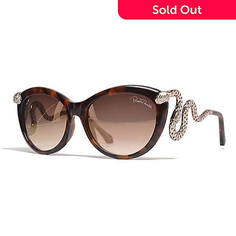 0734c7387d Roberto Cavalli Brown Snake Detail Cat Eye Frame Sunglasses w/ Case