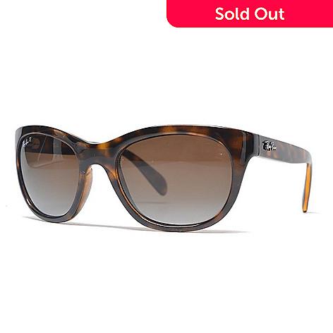 66d85b5170a 739-268- Ray-Ban Faux Tortoiseshell Polarized Cat Eye Frame Sunglasses w