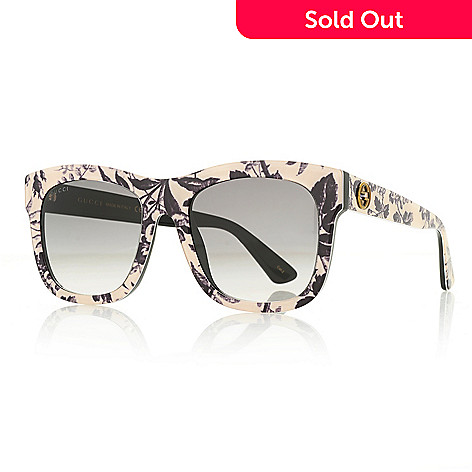3f81dc41c 739-673- Gucci 54mm Round Frame Floral Design Sunglasses w/ Case