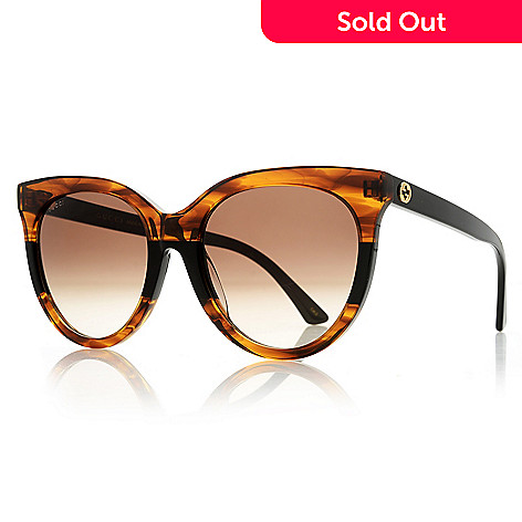 e26adc02a 739-676- Gucci 55mm Cat Eye Frame Sunglasses w/ Case