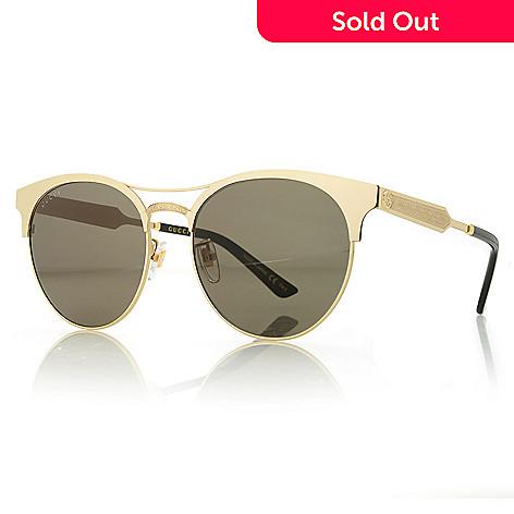 f8eb385f04 739-679- Gucci 56mm Round Frame Aviator-Style Sunglasses w  Case