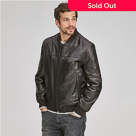c05be9044 Marc New York, Men's Lamb Leather, 3-Pocket, Zip Front, Bomber Jacket