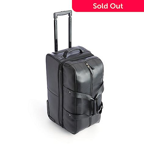 739-787- ROYCE New York Pebbled Leather Rolling Duffel Bag 950ac748a4fa4