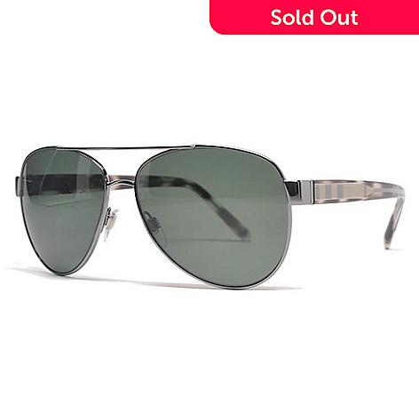 47f53d367981 741-668- Burberry Unisex 58mm Gunmetal Aviator Frame Polarized Sunglasses  w  Case