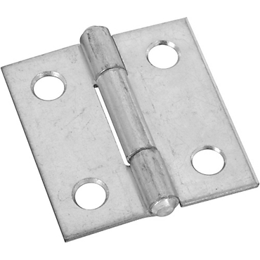 National Hardware 518 1 1 2 Zinc Plated Non Removable Pin Hinge