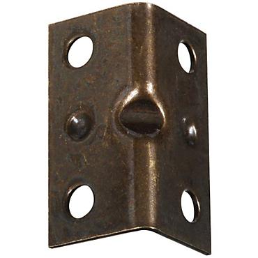 National Hardware  Inside  Corner Brace  2-1//2 x 3//4  Steel-Antique Brass