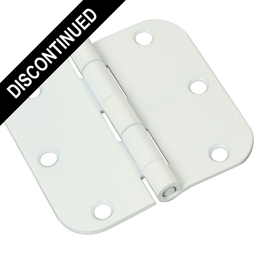 National Hardware N265-108 V512R5//8 Door Hinge in White