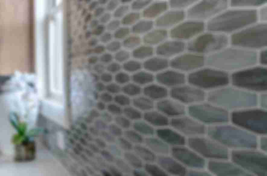 hexagon ceramic wall tiles.
