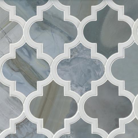 Moonstone Charlotte Marble Mosaic Wall