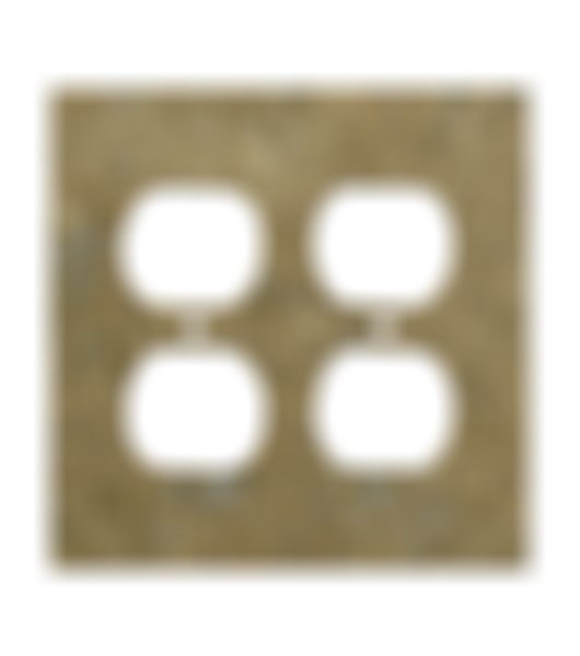 Brown stone outlet covers.