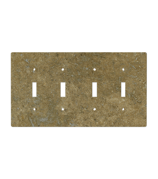 Light and Dark Brown Natural Stone Outlet Cover