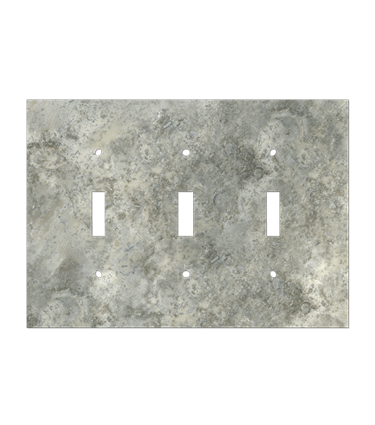 Grey Mottled Natural Stone Trim Outlet Cover
