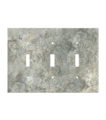 Grey Mottled Natural Stone Trim Outlet Cover