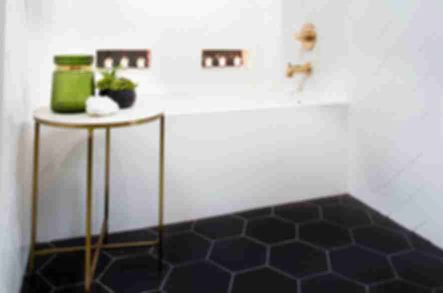 Sometimes The Simplest Design Is Chicest A Black Hexagon Floor Tile Always Stylish Choice