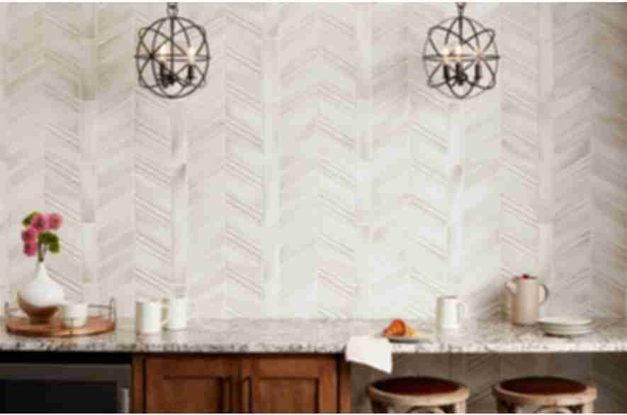 Cream ceramic wall tile design.