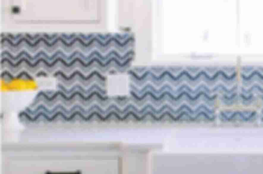 mosaic backsplash blue tiles.
