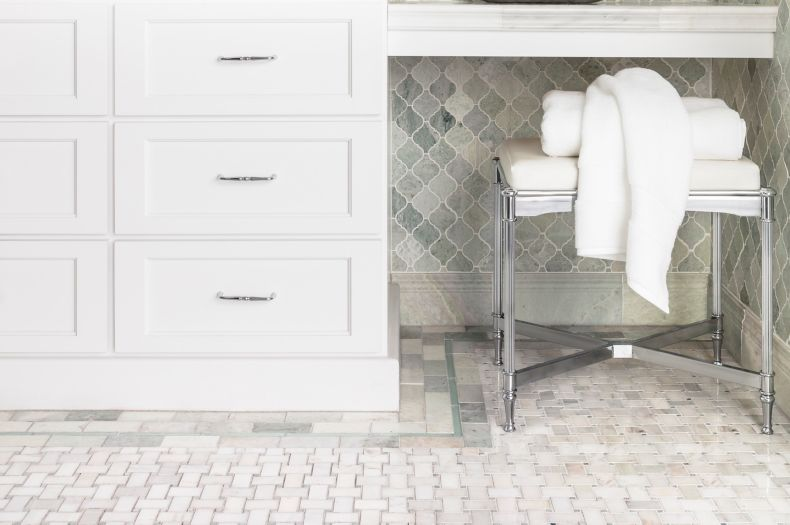 Green Rectangular Tile Sink