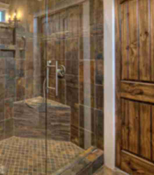 Rustic Tile Shower Area
