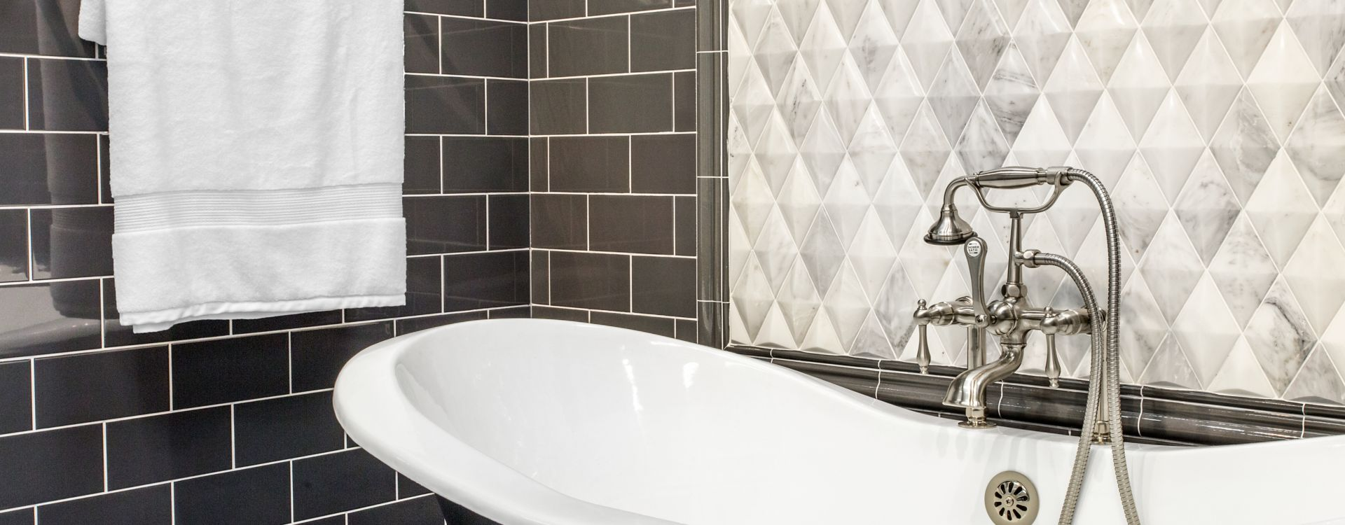 bathroom dark cement look wall tiles.