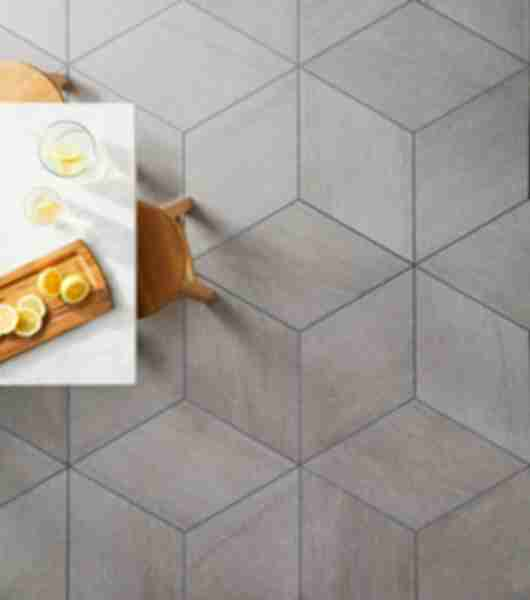 diamond pattern tile kitchen floor