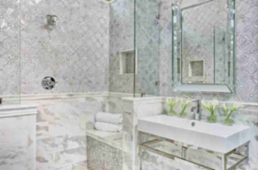 bathroom marble floor and wall tiles.