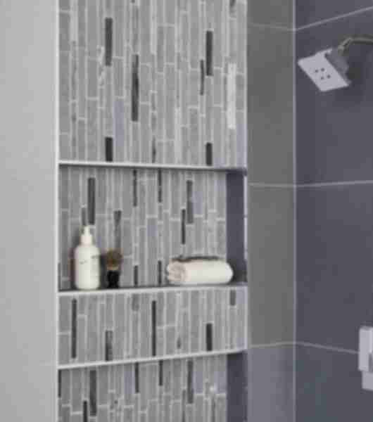 glass mosaic tile shower