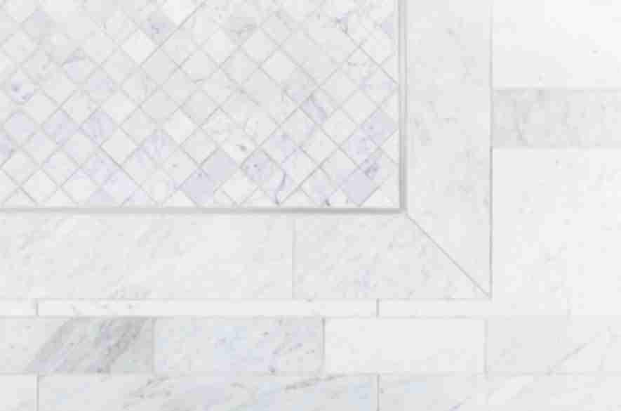 Grey marble floor tile.