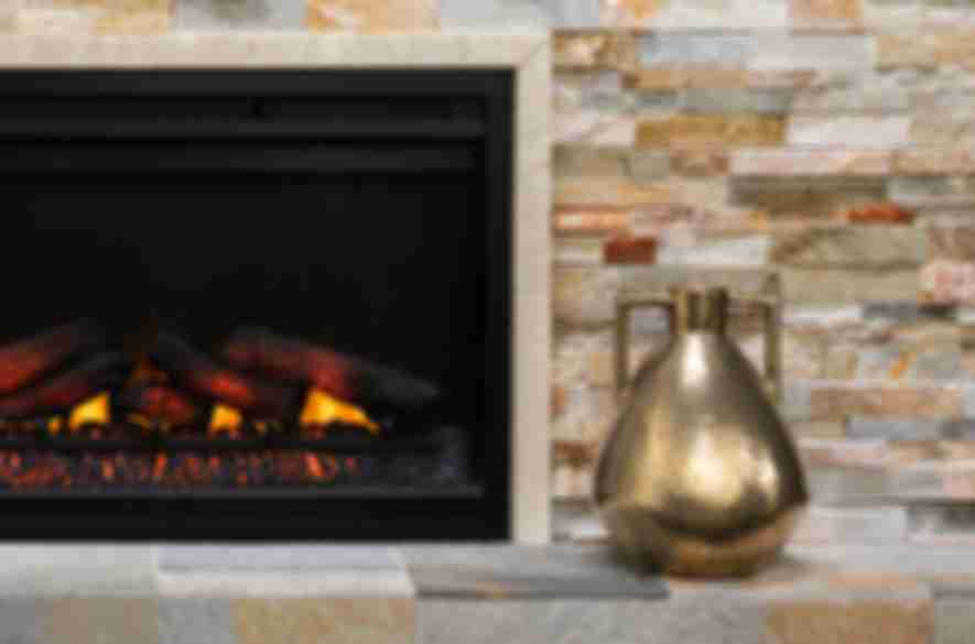rock stove backsplash living room tiles.