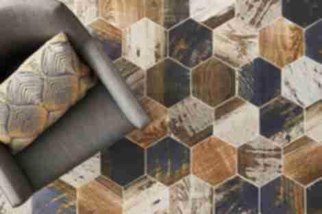 wood look hex floor tile