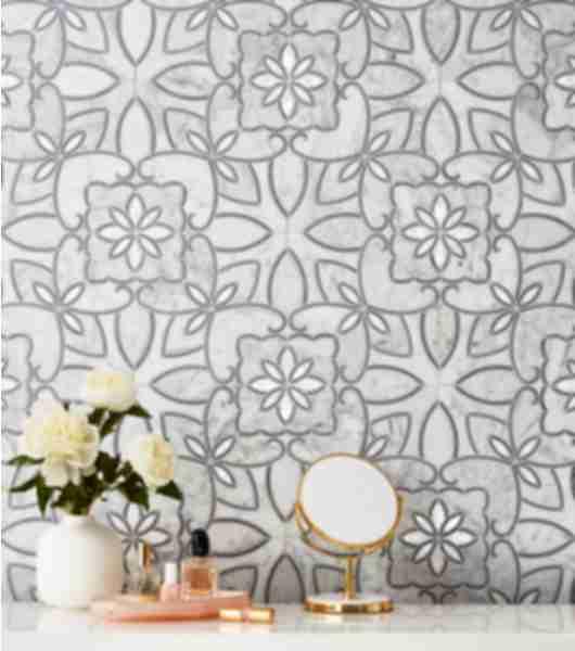 mosaic vanity tile pattern