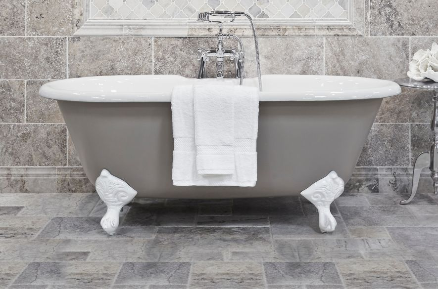 Perfect Stone And Stone Look Tiles Add The Illusion Of High End Texture To Your  Bathroom.