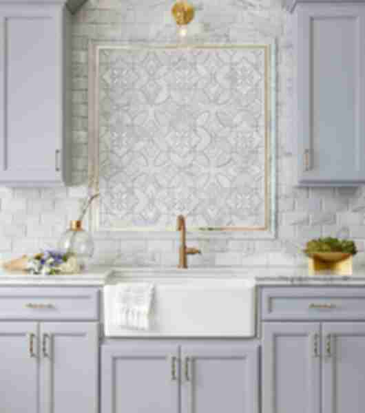 mosaic tile kitchen backsplash frame
