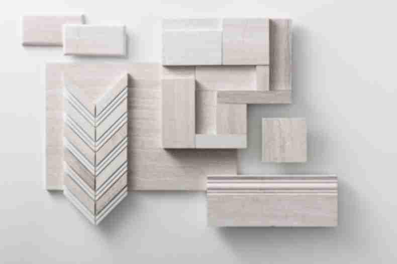 Light Brown LimeStone Tile Montage