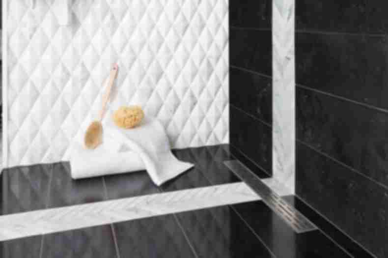 Black Marble Tile Shower