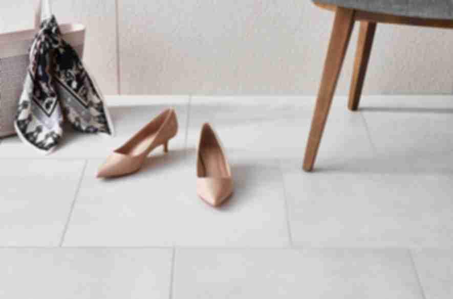 grey marble floor tiles.