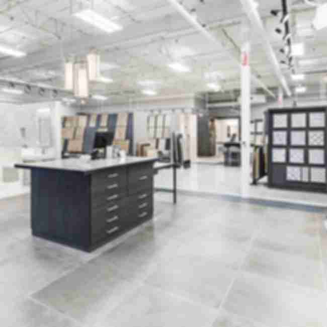 Tile Shop store with a variety of tiled room styles and products.