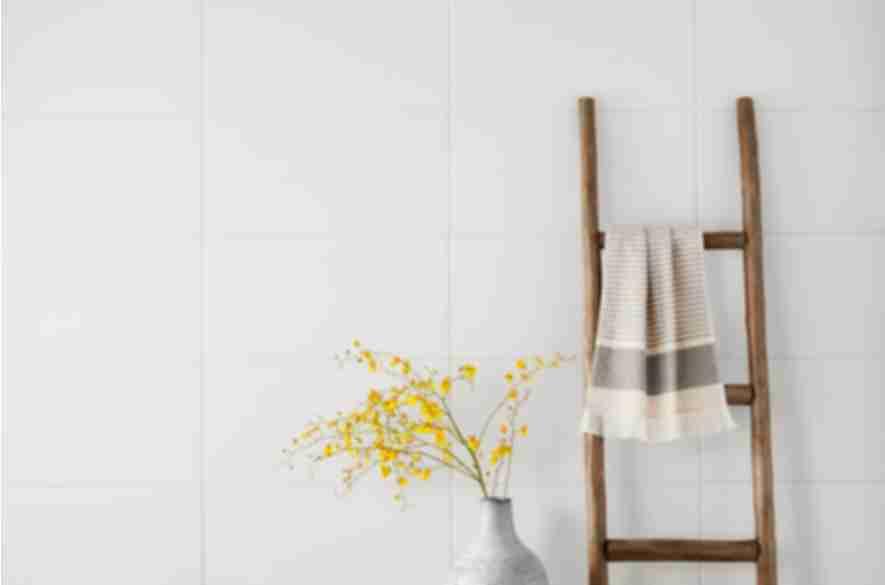 white wall tiles.