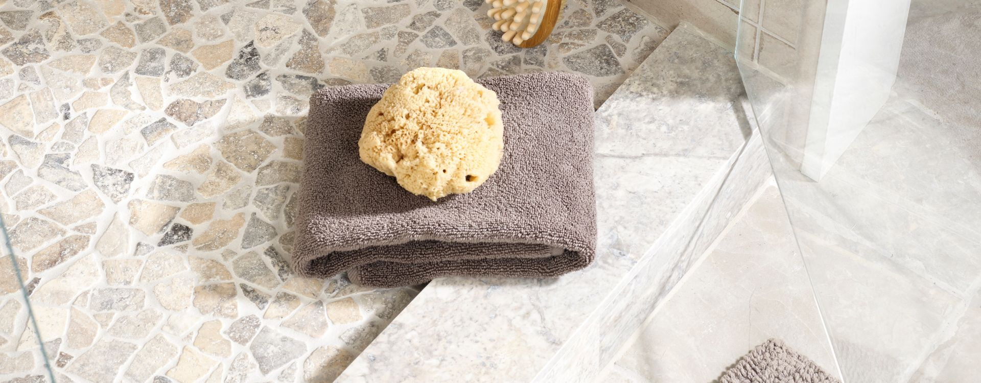travertine tile shower floor