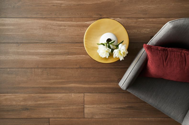 Wooden Floor Tile Sitting Area