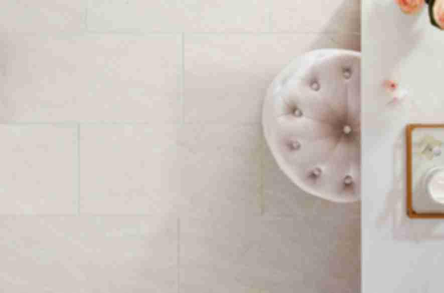 white floor tiles.