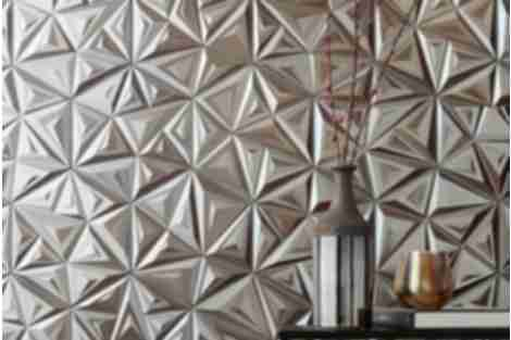 porcelain wall tile silver hex