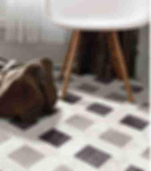 Cassettone porcelain mosaic tiles.