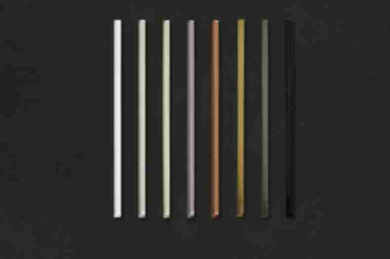 Glass trim pieces in a variety of colors.