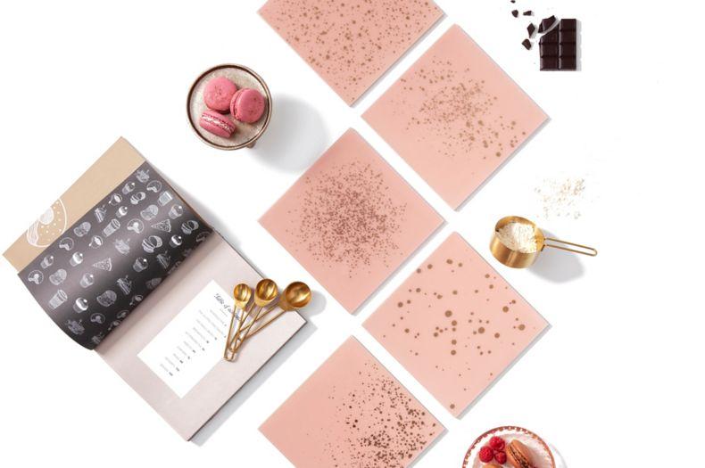Rose Pink Glass Tile Kitchen Montage