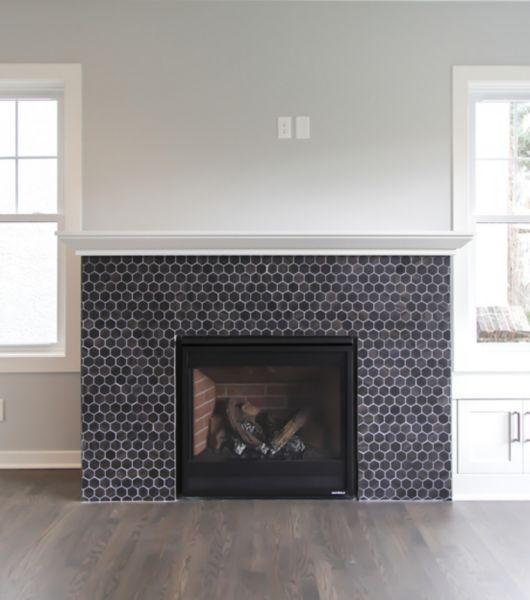 Unique Fireplace Surround Ideas: Fireplace Wall Surround Tile