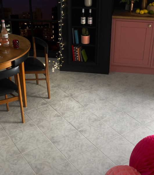 Light to Dark Grey  Patterned Floor Tile